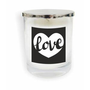 Biela sviečka North Carolina Scandinavian Home Decors Motto Glass Candle V8