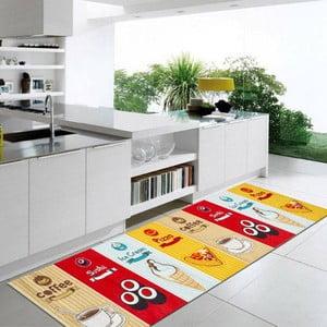 Vysokoodolný kuchynský koberec Webtapetti Fastfood, 60 x 110 cm