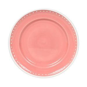 Keramický tanier Marikere Pink, 21 cm