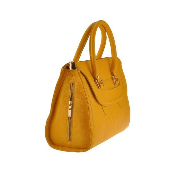 Kožená kabelka Grafias, žltá