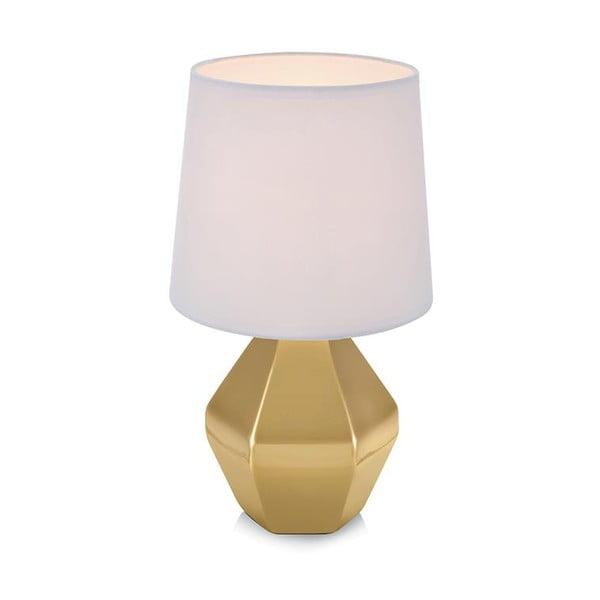 Zlatá stolová lampa s bielym tienidlom Markslöjd Ruby