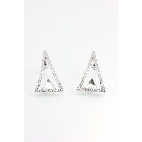 Náušnice so Swarovski krištáľmi Yasmine Triangle