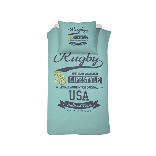 Obliečky Rugby Aqua, 140x200 cm
