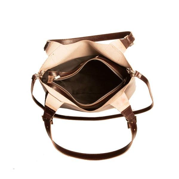 Tmavohnedá kabelka z pravej kože Andrea Cardone Stefano