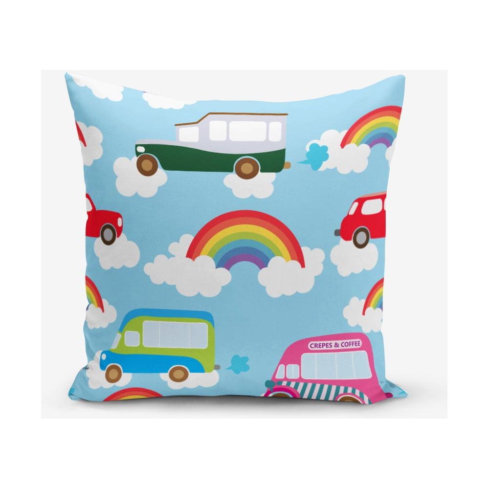 Obliečka na vankúš s prímesou bavlny Minimalist Cushion Covers Rainbow, 45 × 45 cm