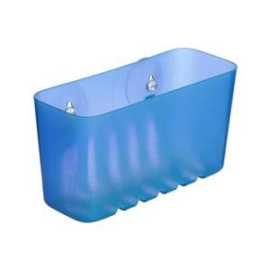 Modrý nástenný kúpeľňový kôšík bez nutnosti vŕtania Ta-Tay Small Storage Basket Standart