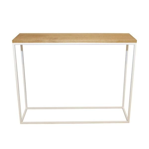 Konzolový stolík Skinny Oak White
