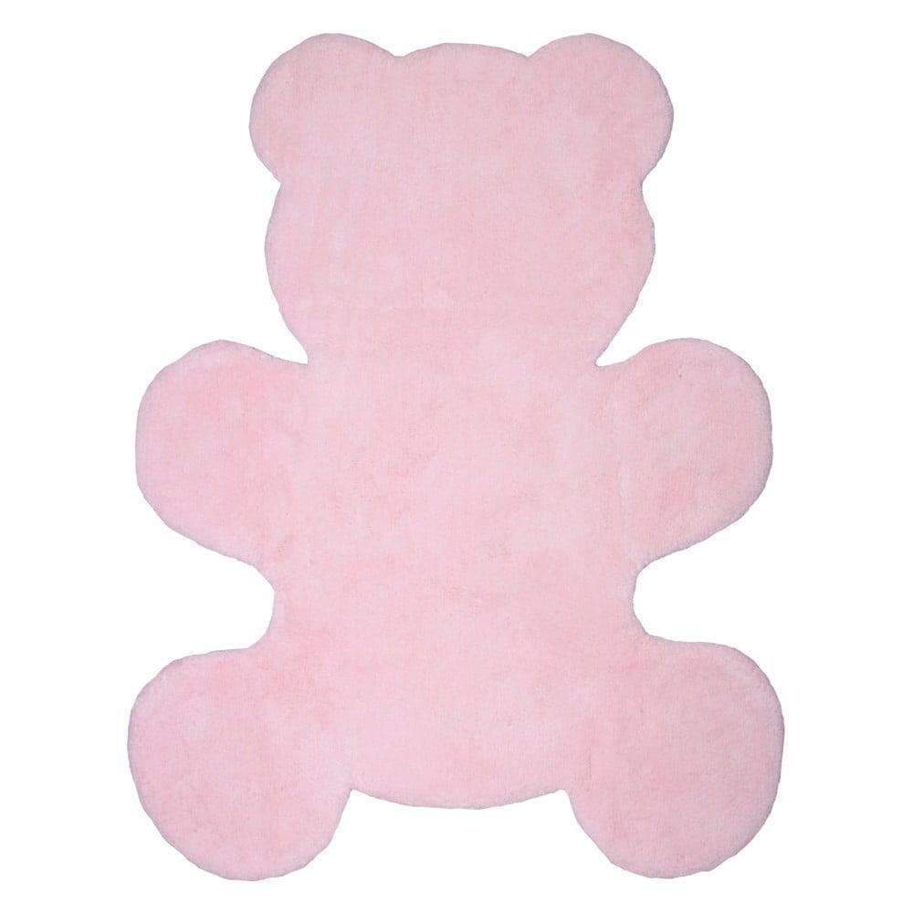 Detský ružový koberec Nattiot Little Teddy, 80 × 100 cm