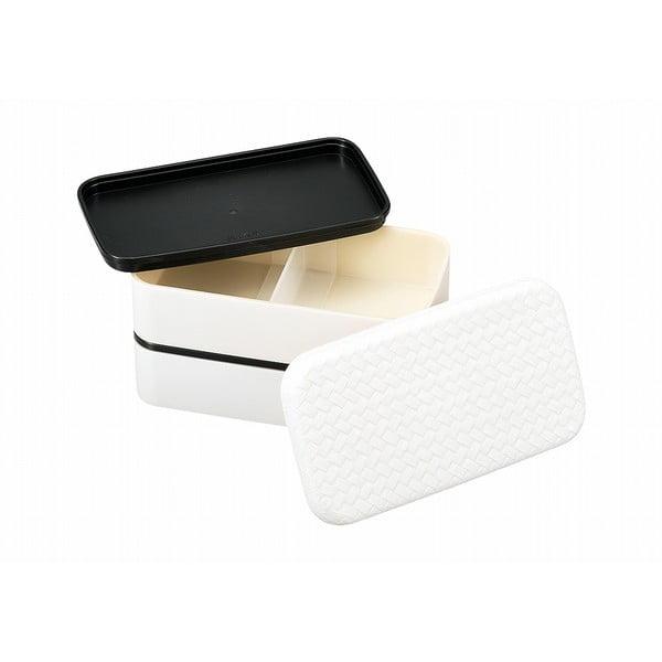 Biely desiatový box Joli Bento B&W, 750ml