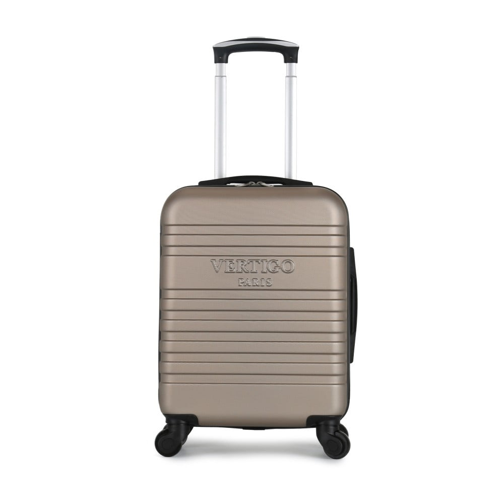 Hnedobéžový cestovný kufor na kolieskach VERTIGO Valises Cabine Cadenas Muela