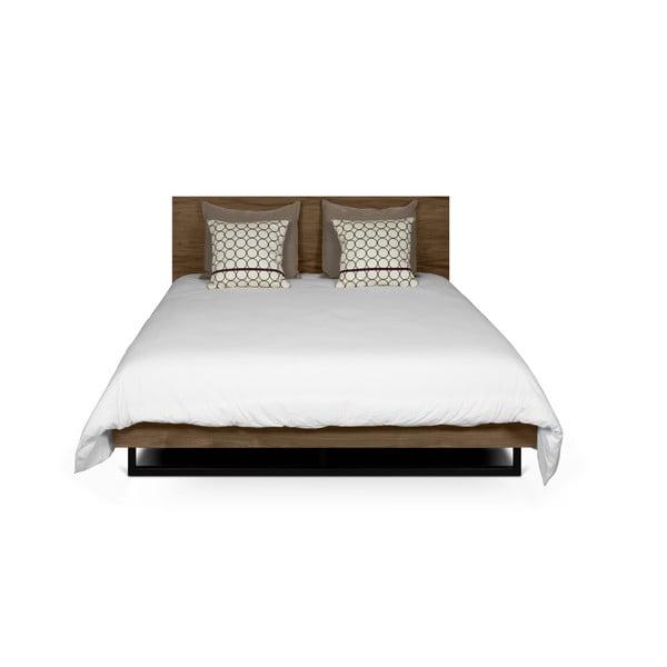Hnedá posteľ s nohami z ocele TemaHome Mara, 180 × 200 cm