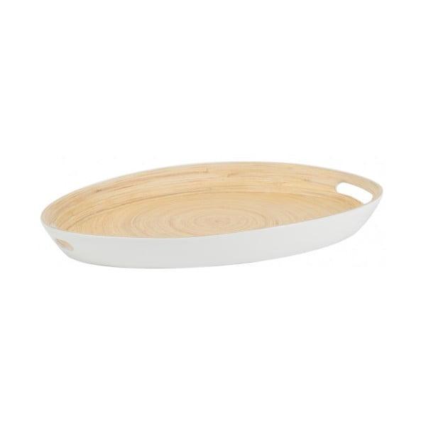 Biely bambusový podnos Navigate