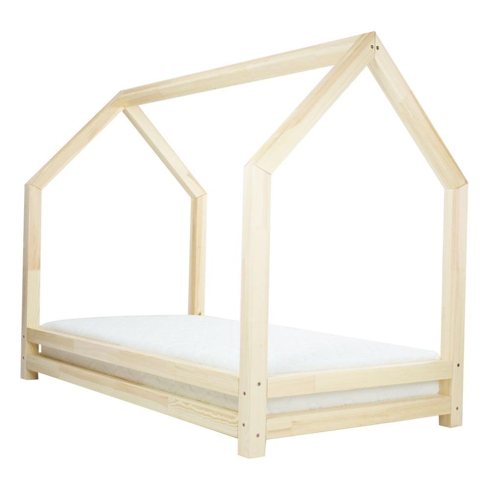 Prírodná jednolôžková posteľ z borovicového dreva Benlemi Funny, 80 × 160 cm