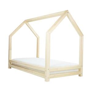 Prírodná jednolôžková posteľ z borovicového dreva Benlemi Funny, 80 x 160 cm