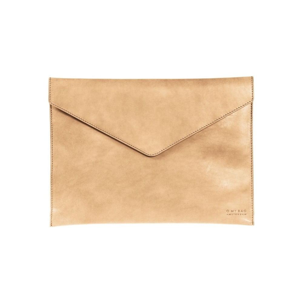 """Béžový kožený obal na notebook 13"""" v tvare obálky O My Bag"""
