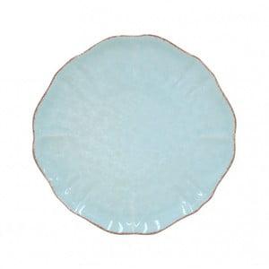 Tyrkysový dezertný tanier z kameniny Casafina Impressions, ⌀ 17 cm