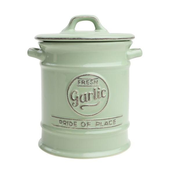 Zelená porcelánová dóza na cesnak T&G Woodware Pride of Place