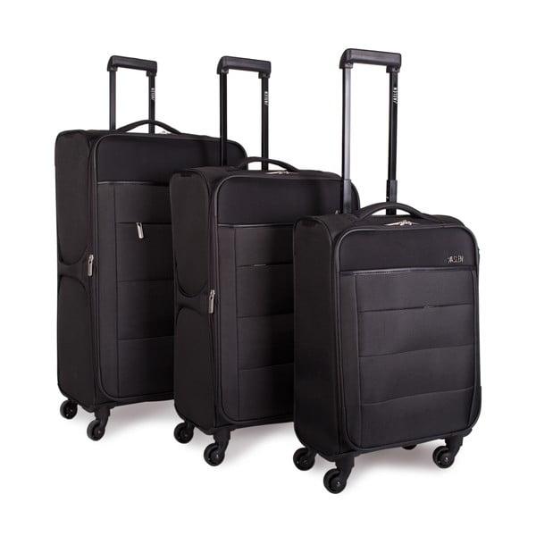 Sada 3 kufrov Jaslen, tmavosivá