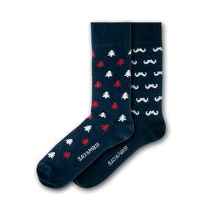 Sada 2 párov unisex ponožiek Black&Parker London Forbury Gardens, veľkosť 37 - 43