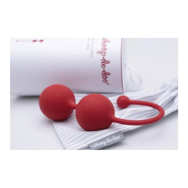 Červené dizajnové venušine guľôčky Whoop.de.doo Light, 41 g