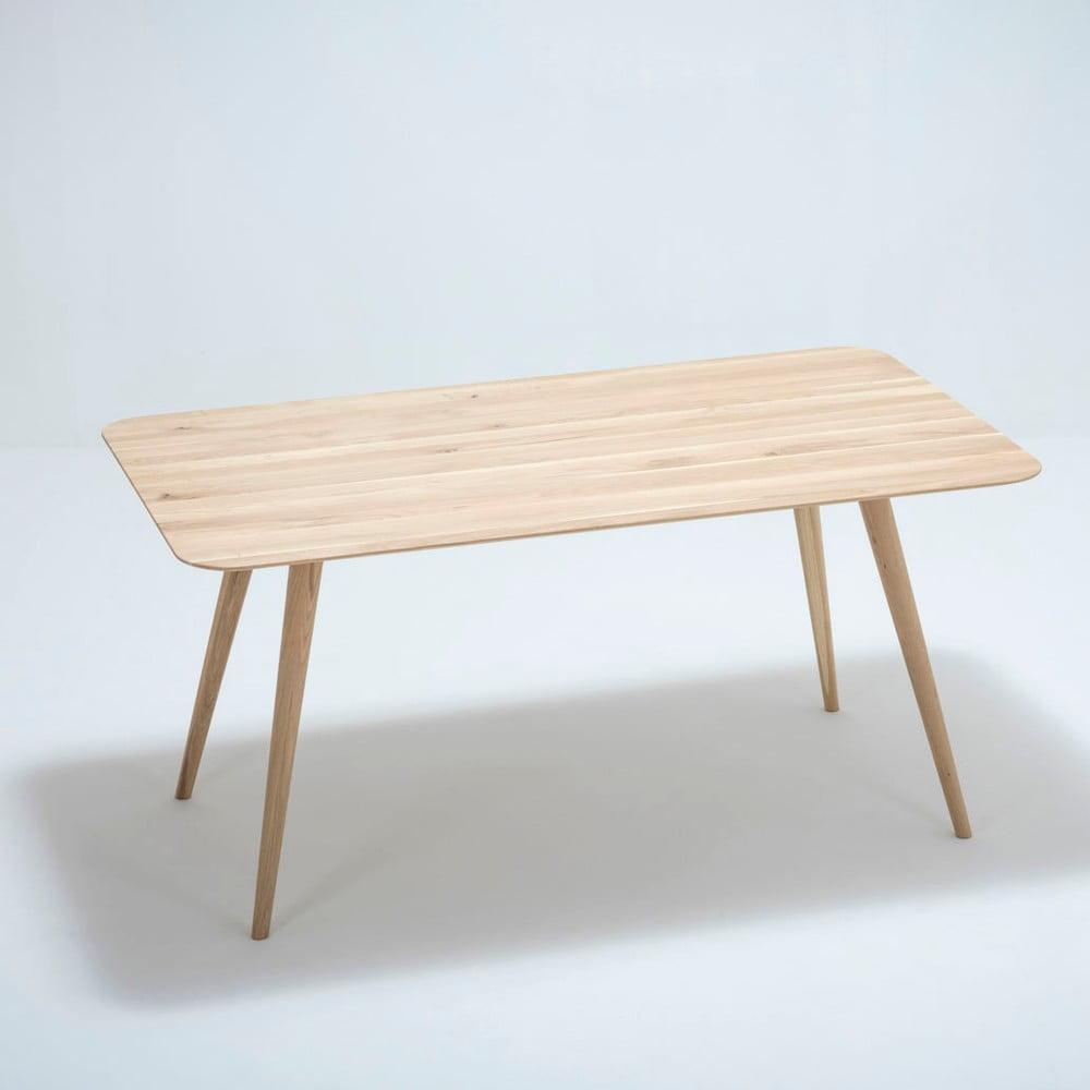 Jedálenský stôl z dubového dreva Gazzda Stafa, 160 × 90 × 75,5 cm
