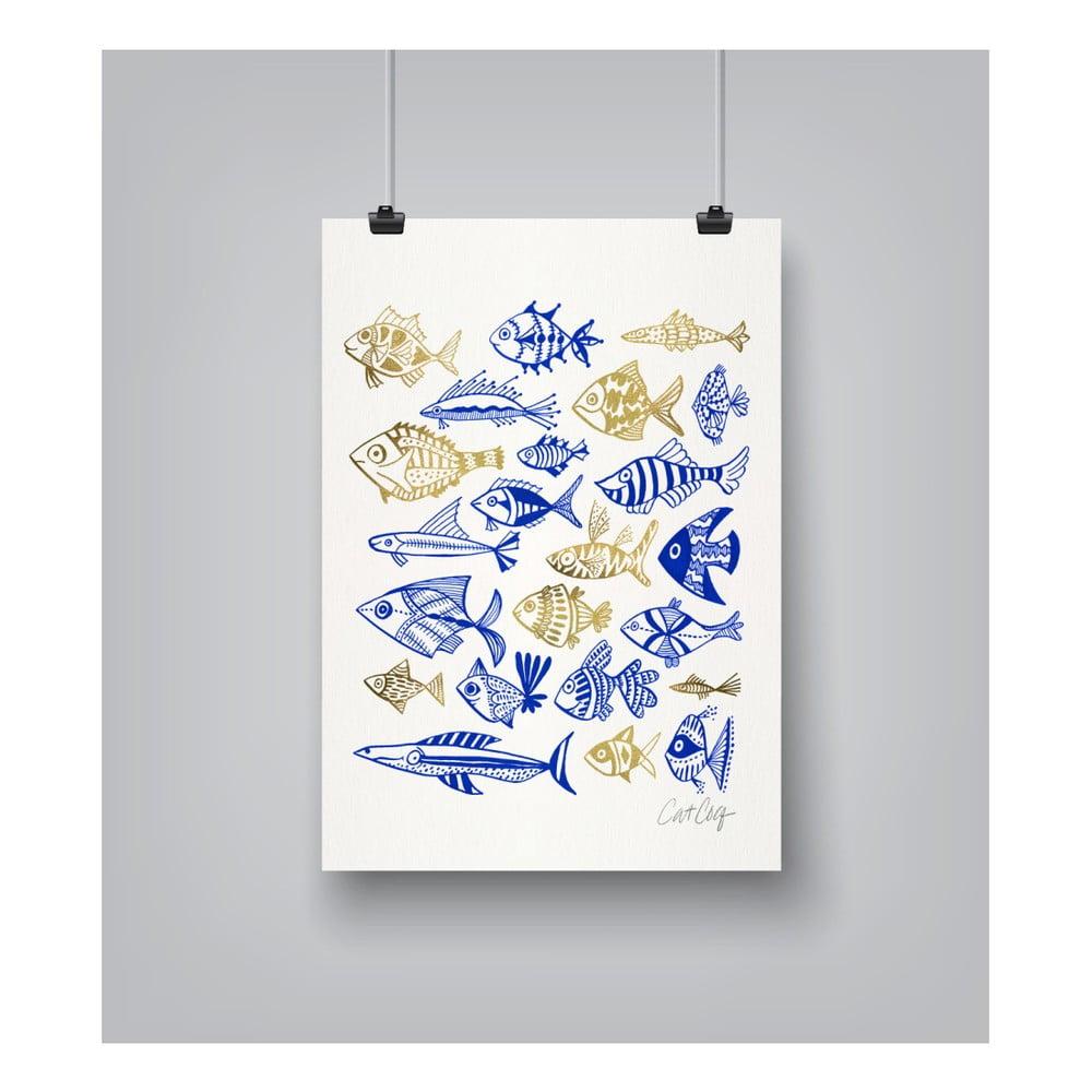 Plagát Americanflat Fish In Klings, 30 x 42 cm