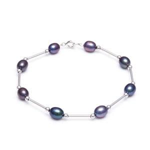 Strieborný náramok s modrými perlami GemSeller Jenne