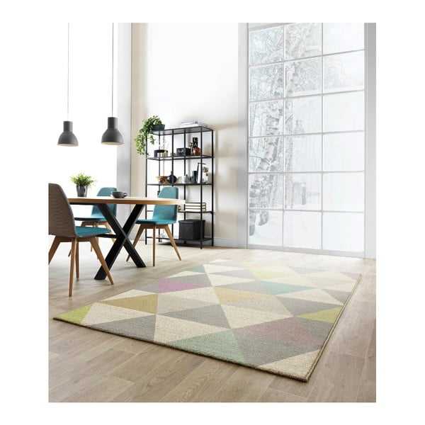 Koberec Asiatic Carpets Focus Triangles Multi, 80x150 cm