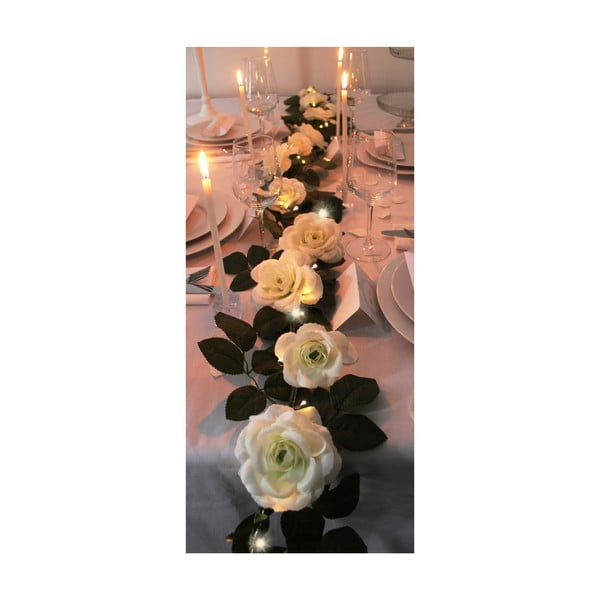 Svadobná girlanda s LED svetielkami Roses, 3,6 m
