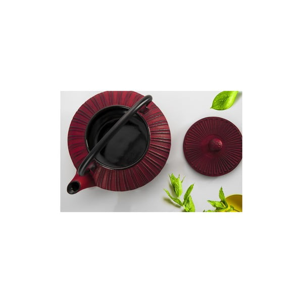 Liatinová kanvica Bona Red, 1500 ml