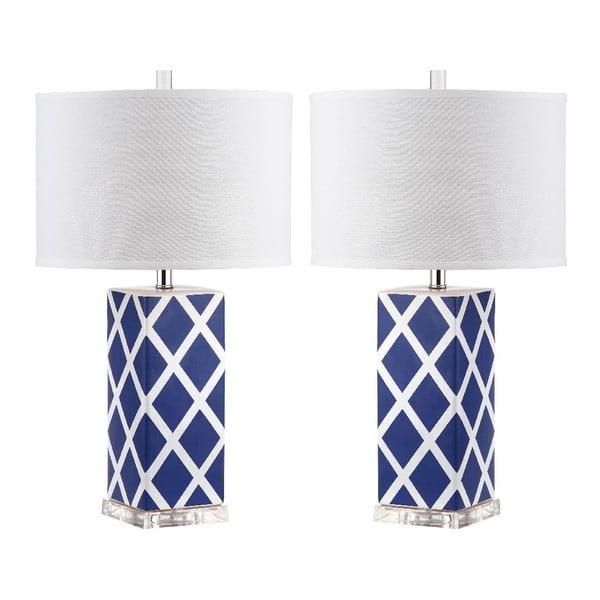 Sada 2 stolových lámp Garden Lattice Blue