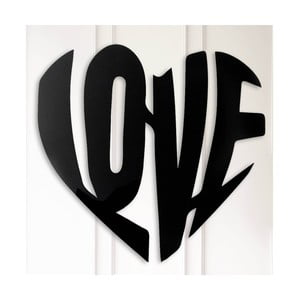 Kovová nástenná dekorácia Love