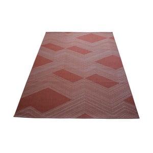 Vysokoodolný koberec Floorita Red Retro, 200 x 250 cm
