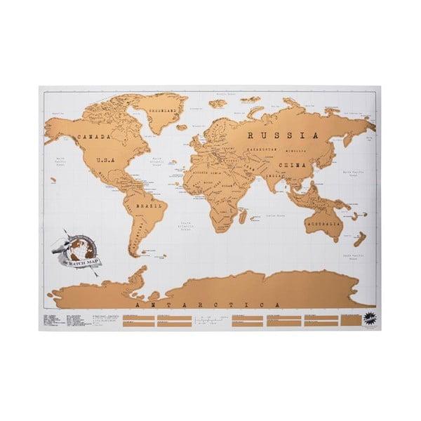 Zoškrabávacia mapa sveta Luckies of London