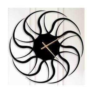 Čierne kovové nástenné hodiny Beatrice