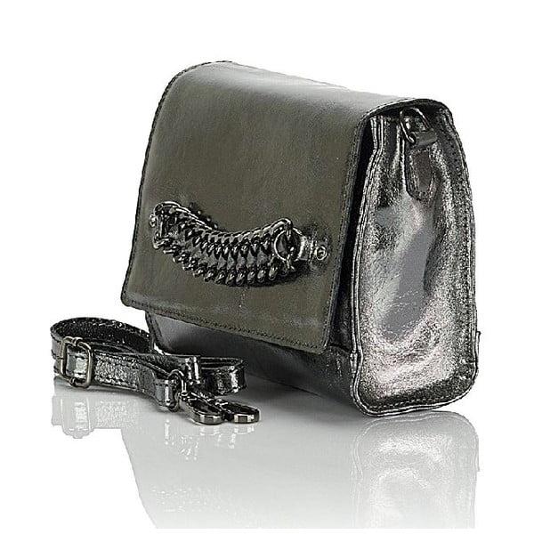 Kožená kabelka Giorgio Costa 15004 Silver