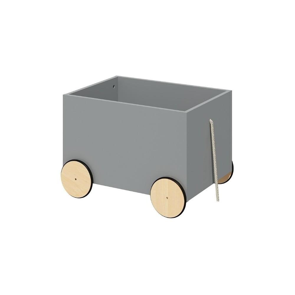 Sivý pojazdný box na hračky BELLAMY Lotta