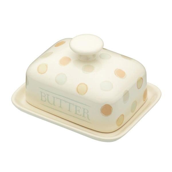 Bodkovaná dóza na maslo