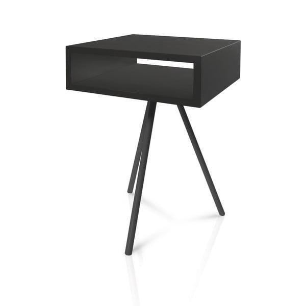Odkladací stolík Vintme AL2, čierna/čierna