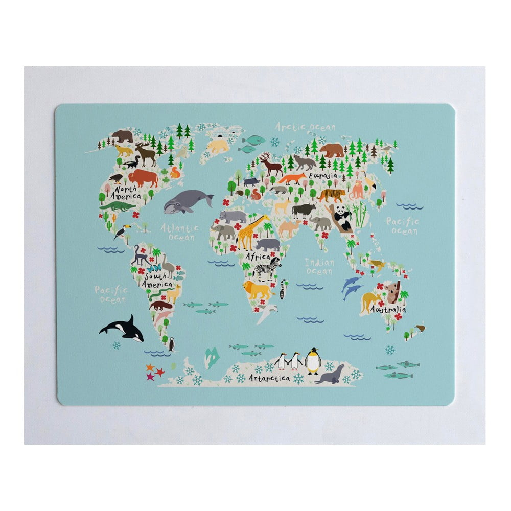 Podložka na stôl Little Nice Things World Map 55 × 35 cm