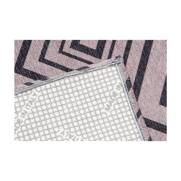 Vysokoodolný kuchynský koberec Hellenic Grey, 130x190 cm