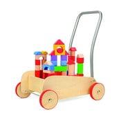 Vozík s drevenými kockami na hranie Legler Walker