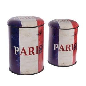 Sada 2 kovových stoličiek s úložným priestorom InArt Paris