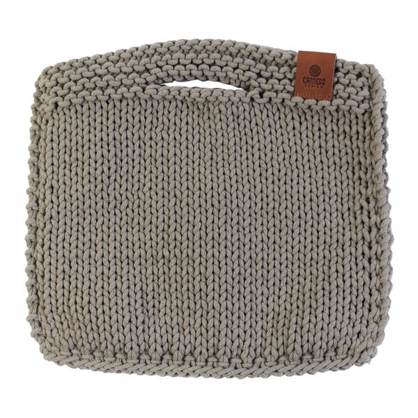 Pletená kabelka Catness, béžová, 35x38 cm