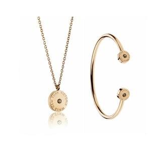 Set náhrdelníka a náramku z chirurgickej ocele v zlatej farbe Victoria Walls  Lia 751ad528761
