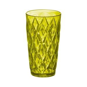 Olivovo-zelený plastový pohár Koziol, 450 ml
