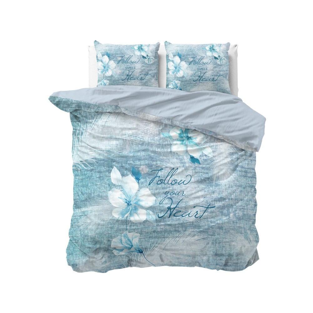 Bavlnené obliečky na dvojlôžko Sleeptime Flowerina, 200 × 220 cm