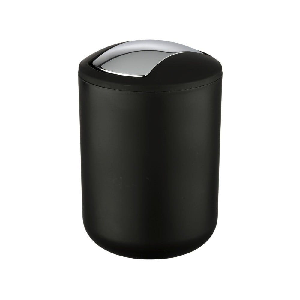 Čierny odpadkový kôš Wenko Brasil S, výška 21 cm