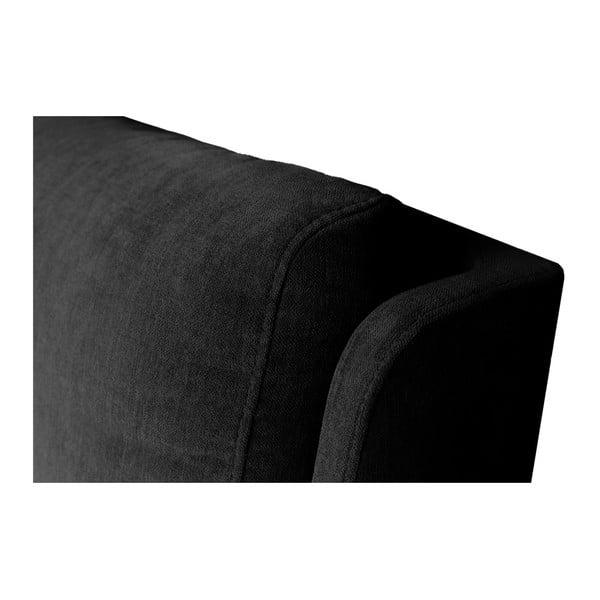 Čierna dvojlôžková posteľ Mazzini Beds Vicky, 140×200cm