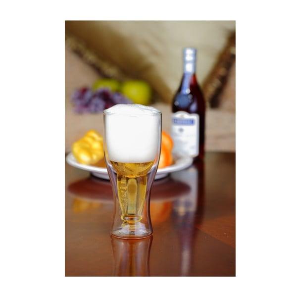 Dvojitý pivný pohár Vialli Design, 350ml